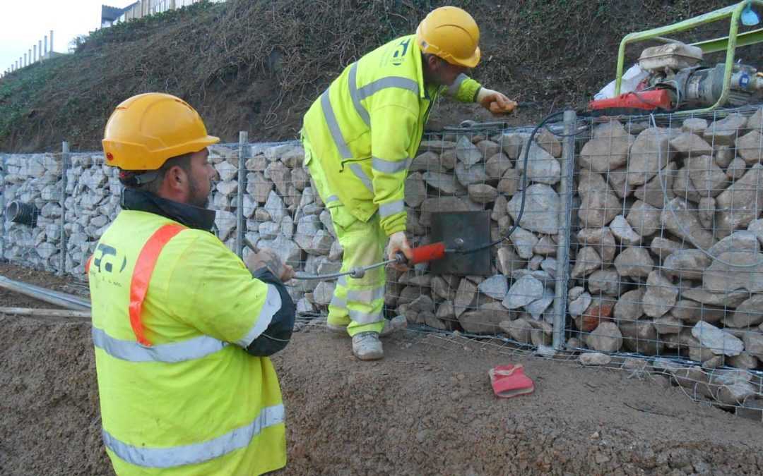 Gabion Retaining Wall, Carbis Bay Hotel – UK