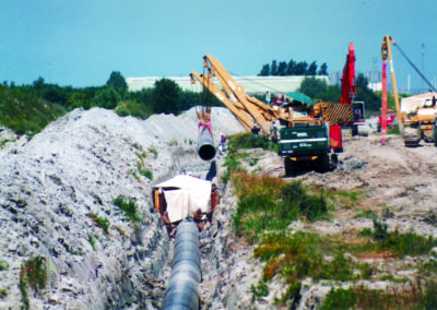 Gaz de France, Calais - Gas pipeline secured with earth anchors