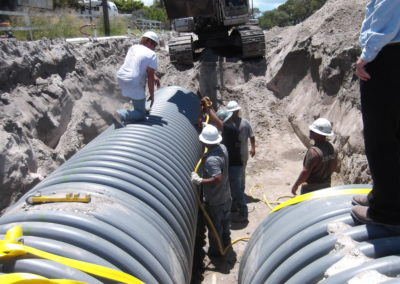 Mesquite St Storm Drainage - Corpus Christi, TX - Securing pipelines with anchors