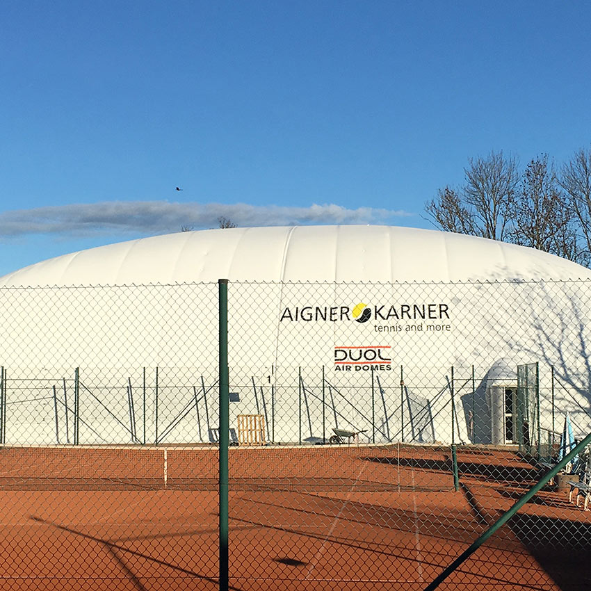 Inflatable Tennis Dome Anchoring – Munich, Germany - Installed with Platipus B6 anchor