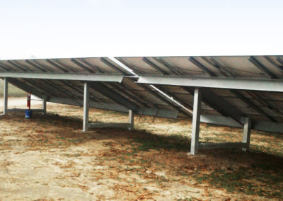 Plymouth Solar PV Farm (2.4MW) – NC, USA - Underside of Solar Panel