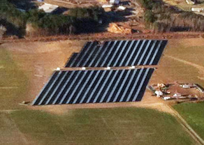 Plymouth Solar PV Farm (2.4MW) – NC, USA - Aerial photo showing Photovoltaic Panels