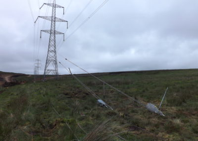 Fallago Rig Wind Farm - Cables installed into ground