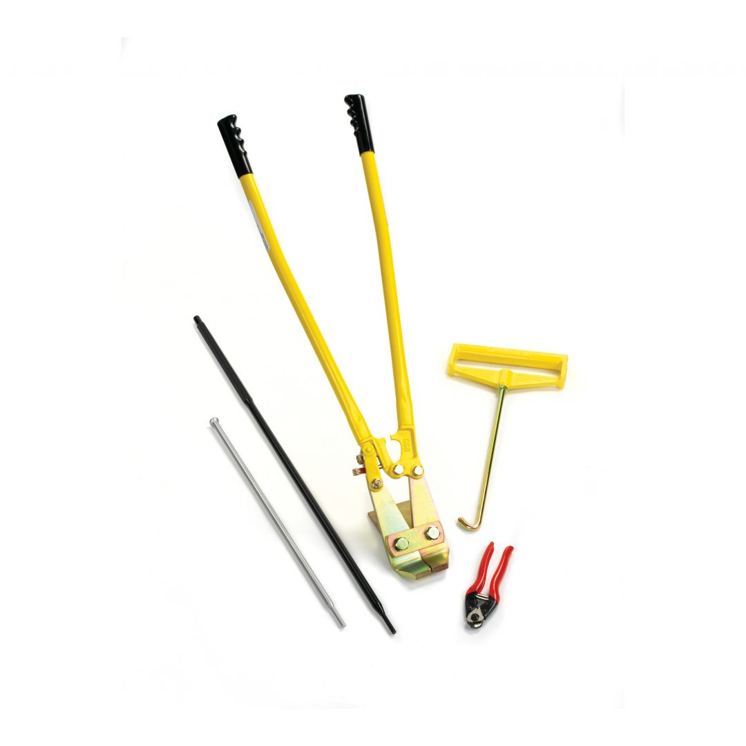 Lightweight handheld installation tools that can be used to install Platipus earth anchors