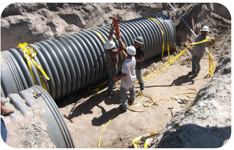 driving anchor into ground for pipelines