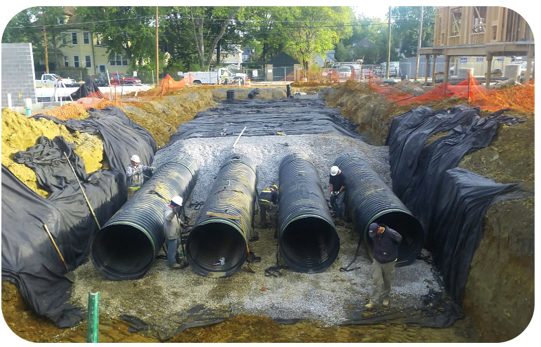pipeline placed into postion