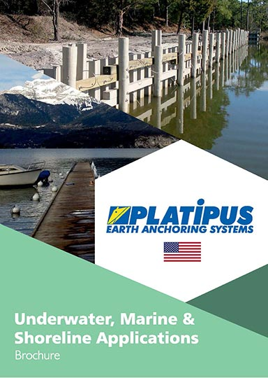 Platpus Marine brochure cover with US flag